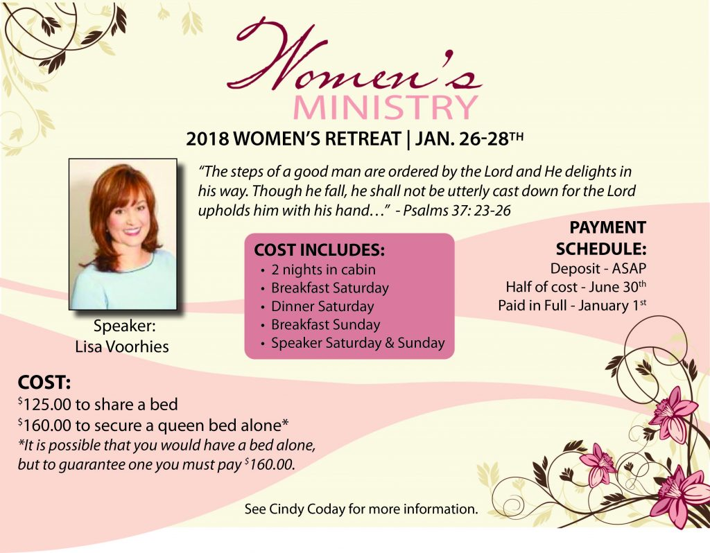 2018 Women's Retreat Ad